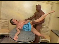 Stiff black dick is perfect for mature hole