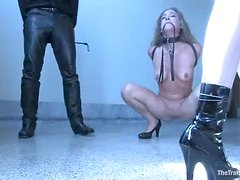 Hardcore BDSM double penetration with a sassy hun Jade