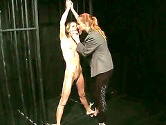 Skinny schoolgirl Lillandra is being tied up nicely and unable to do anything while