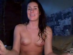 Amateur gets horny watching porn and plays
