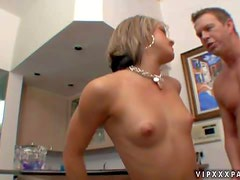 Horny perky blonde housewife Kara Novak gets really lonely at