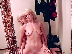 Attractively saggy blonde milf