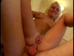 Two bitches fucked in a hotel room foursome