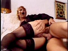 Naughty business chicks in a fantastic orgy