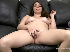 Teenager strips for casting couch sex