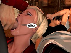3D blowjob in a hardcore HD comics