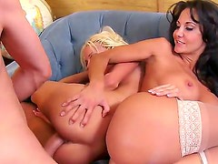 Ava Addams,James Deen and Rikki Six