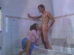 Slutty girl drilled in bathroom