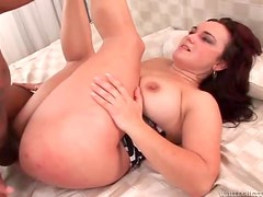 Petite slut getting her ass filled with black cock