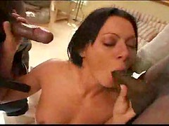 She spreads her legs for interracial gangbang