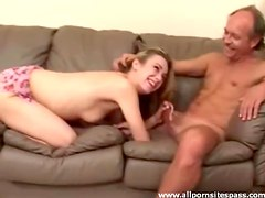 Blonde babe getting fingered then sucking dick