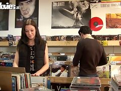 Brunette Jackie Tiefenbacher Gets an Anal Threesome in Music Store