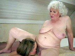 Granny Norma and young beauty Vicky Braun are lesbians that