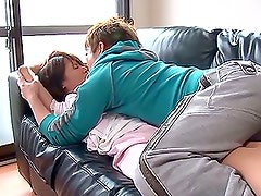 Horny Housewife Takes A Break To Fuck On The Couch