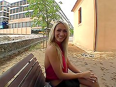 The Missionary Tree Fuck and POV Blowjob with Blonde Cynthia V