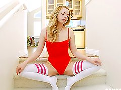 Incredibly Cute and Sexy Blonde Lexi Belle Fucked in Her Snatch