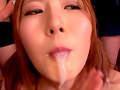 Sexy Momoka Nishina pleases many guys in gangbang video