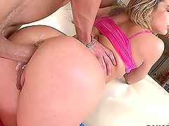 Huge Dildos and a Big Cock Give an Anal Destruction to Bailey Blue