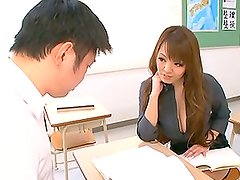 Hitomi gets her Massive Japanese tits out to amaze this dude