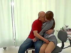 Hot Japanese office girl gets fucked in a hospital ward