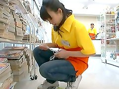 Japanese Chick gets drilled deep in her shaved cave