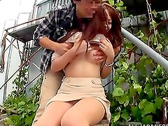 Stunning Rika Hoshimi gets fucked from behind outdoors