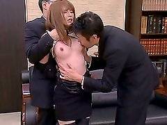 Nailon - Really hot and wild Miku Ohashi gets cum on her face