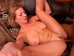 Stunning Busty Blonde MILF Darien Ross Loving the Black Cock