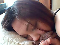 Asian Sleeping Beauty Wakes Up To A Creampie.