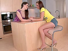 Lesbian Naugtiness With Teen Brunettes Annie And Mellie