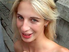 Amateur Public Sex Video with a Slutty Blonde Bimbo