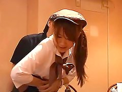 Sizzling Japanese waitress gets seduced by the clients