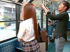 Gorgeous Teen Rina Rukawa gets balled in the bus