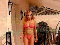 Double Trouble For Stunning Blonde By The Pool