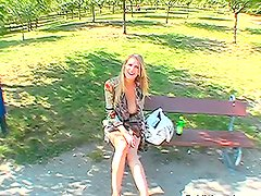 Sexy Euro Model With Big Tits Fucked In The Park