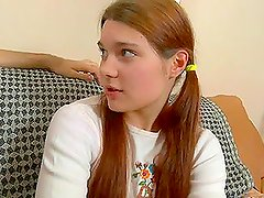 Cute Long Haired Teen With Pigtails & Small Titties Gets Fucked.