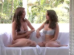 A Hot Chat Lets You Take A Peek At Cameron Haven And Her Friend's Tits