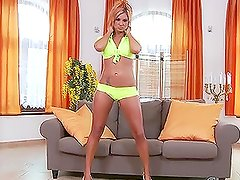 Ashley Bulgari the gorgeous babe stripping and toying