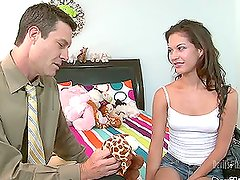 Ariana Fox the amazing babysitter gets fucked in the bedroom