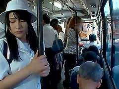 Teen girl Gets Her Pussy Fingered right in the bus