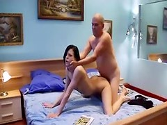 Skinny young girl with hard cock in vagina