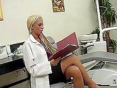 Busty dentist Tanya James cures Danny Mountain in her own way