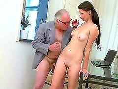 Simona knows how to fuck her aged professor