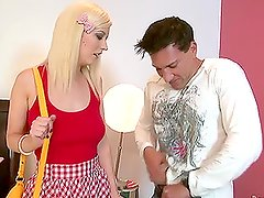 Cherry Torn the sexy blonde babysitter getting assfucked
