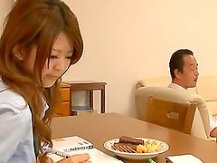 Two Japanese schoolgirls get hotly fucked by a salacious dude