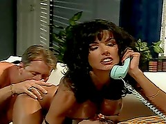 Anna Malle the passioante brunette gets jizzed on her face