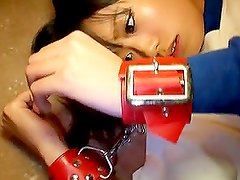 Adorable Uta Kohaku gets her pussy toyed by two guys