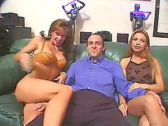Peter North fucks Jessica Darlin near a pool and cums on her face
