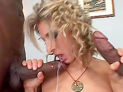 Naughty Janet Alfano getting fucked by big black cock