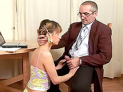 Slutty Vika having hardcore sex with her teacher